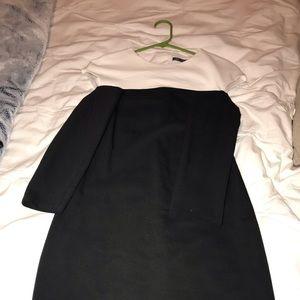Zara midi Black and White Dress